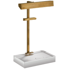 McClean Easel Light in Hand-Rubbed Antique Brass