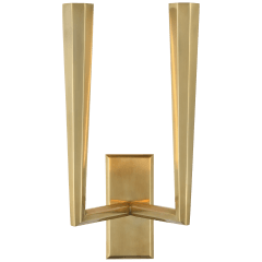 Galahad Double Sconce in Hand-Rubbed Antique Brass