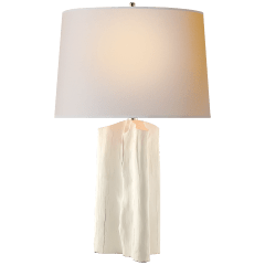 Sierra Buffet Lamp in Plaster White with Natural Paper Shade