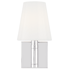 Beckham Classic Square Sconce Polished Nickel