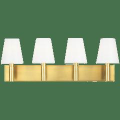 Beckham Classic 4 - Light Vanity Burnished Brass