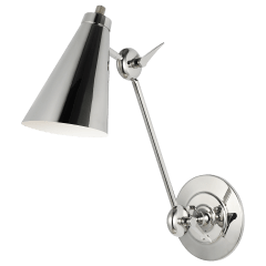 Signoret Library Sconce Polished Nickel