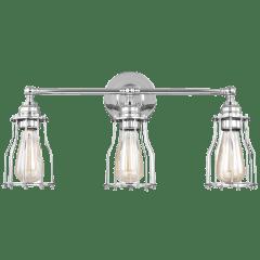 Calgary 3 - Light Vanity Chrome