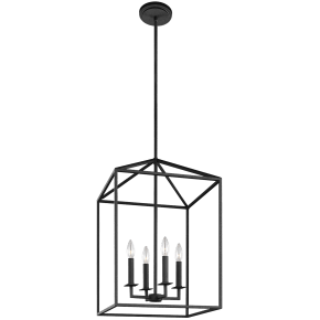 Perryton Medium Four Light Hall / Foyer Blacksmith Bulbs Inc