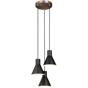 Towner Three Light Cluster Pendant Satin Brass Bulbs Inc