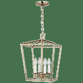 Dianna Four Light Small Lantern Satin Brass Bulbs Inc