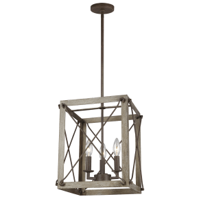 Thornwood Small Three Light Hall / Foyer Washed Pine