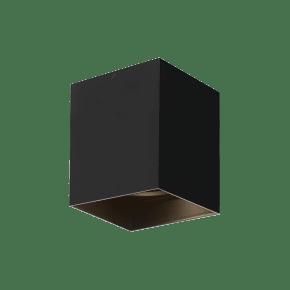 "Exo 6 Flush Mount 6.1"" Matte Black Black 2700K LED 90 CRI 120v 277v UNV 20"