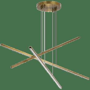 Essence Trio Linear aged brass 3000K 90 CRI integrated led 90 cri 3000k 120v