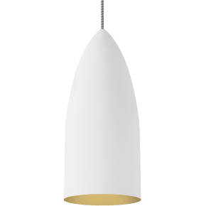 Signal Pendant Rubberized White/Gold no lamp