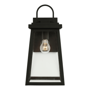 Founders Large One Light Outdoor Wall Lantern Black