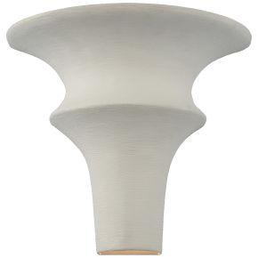 Lakmos Small Sconce in Plaster White