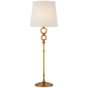 Bristol Table Lamp in Gilded with Linen Shade