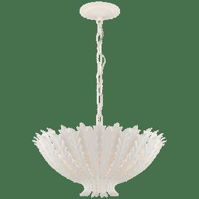 Hampton Medium Chandelier in Plaster White