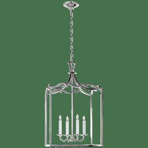 Darlana Medium Fancy Lantern in Polished Nickel