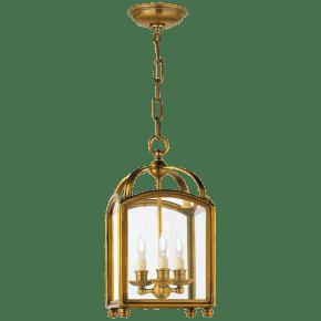 Arch Top Mini Lantern in Antique-Burnished Brass