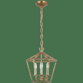 Darlana Small Hexagonal Lantern in Gilded Iron