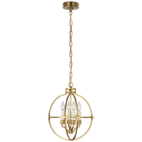 "Lexie 14"" Globe Lantern in Antique-Burnished Brass"