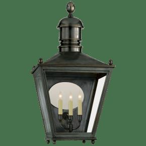 Sussex Large 3/4 Lantern in Bronze