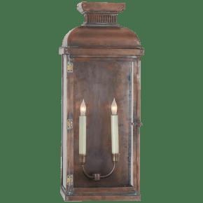 Suffork Wide Tall 3/4 Lantern in Natural Copper
