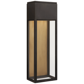 Irvine Large 3/4 Wall Lantern in Bronze with Clear Glass