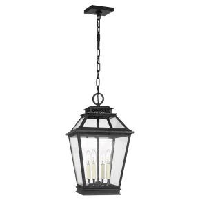 Falmouth Hanging Lantern Dark Weathered Zinc