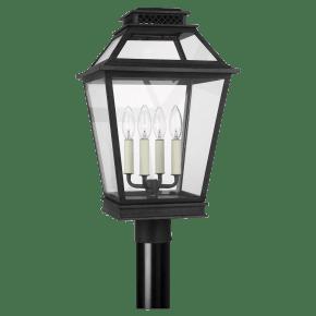 Falmouth Post Lantern Dark Weathered Zinc