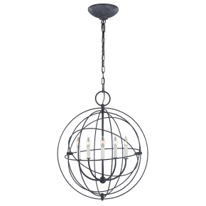 Bayberry Medium Pendant Weathered Galvanized