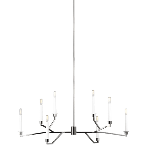 Hopton Linear Chandelier Polished Nickel