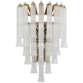 Lorelei Large Waterfall Sconce in Gild with Clear Glass