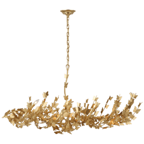 Farfalle Large Linear Chandelier in Gild