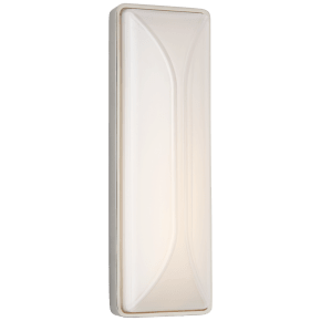 """Carmilla 14"""" Bath Sconce in Polished Nickel with White Glass"""