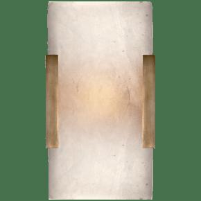 Covet Wide Clip Bath Sconce in Antique-Burnished Brass