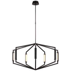 "Appareil 40"" Low Profile Chandelier in Bronze"