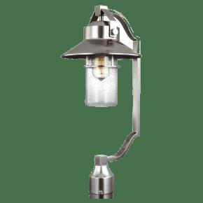 Boynton Large Post Lantern Painted Brushed Steel