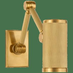 Barrett Mini Double Arm Bed Light in Natural Brass
