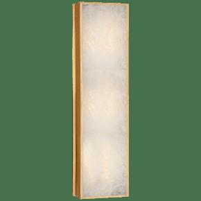Ellis Medium Linear Sconce in Natural Brass and Natural Quartz