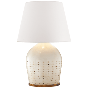 Halifax Large Table Lamp in Coconut with White Paper Shade