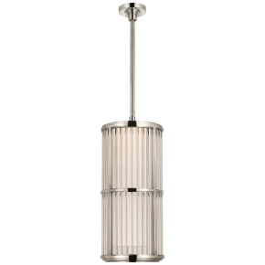 """Perren 10"""" Pendant in Polished Nickel and Glass Rods"""