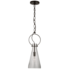 Limoges Small Pendant in Natural Rust with Clear Glass