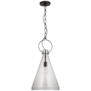 Limoges Tall Pendant in Natural Rust with Clear Glass