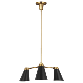 Signoret Small Chandelier Burnished Brass