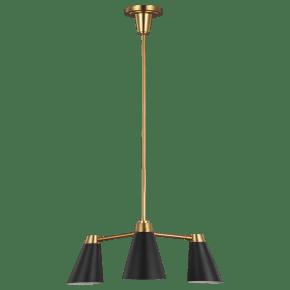 Signoret Small Chandelier Burnished Brass