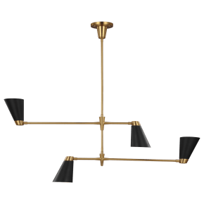 Signoret Medium Chandelier Burnished Brass