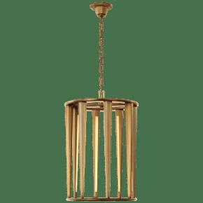 Galahad Medium Lantern in Hand-Rubbed Antique Brass
