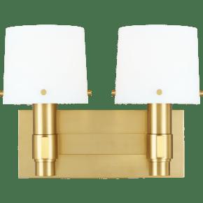 Palma 2 - Light Vanity Burnished Brass