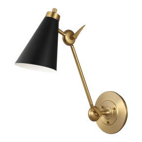 Signoret Library Sconce Burnished Brass