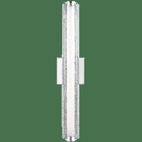 """Cutler 24"""" LED Vanity Chrome Bulbs Inc Clear Crackle Glass"""