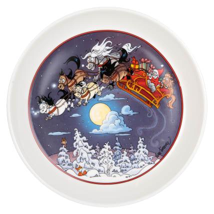 Lena Furberg Bandit's Christmas Sledge Plate