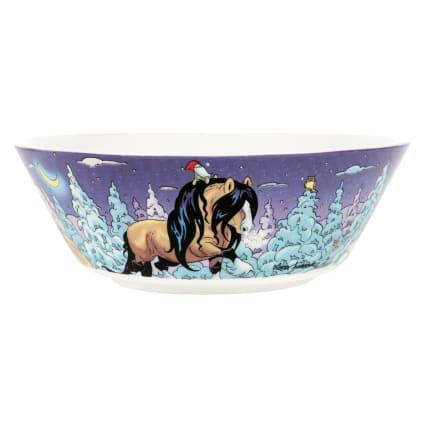 Lena Furberg Horses Bowl Frost
